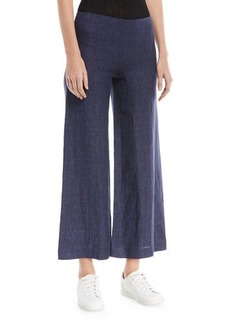 Theory Terena B. Wide-Leg Integrate Linen Pants