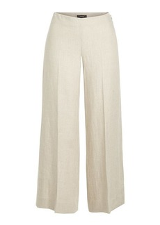 Theory Terena Cropped Linen Pants