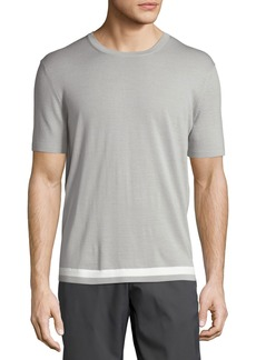 Theory Tevez New Sovereign Short-Sleeve Wool Sweater