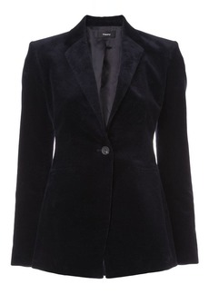 Theory textured buttoned blazer
