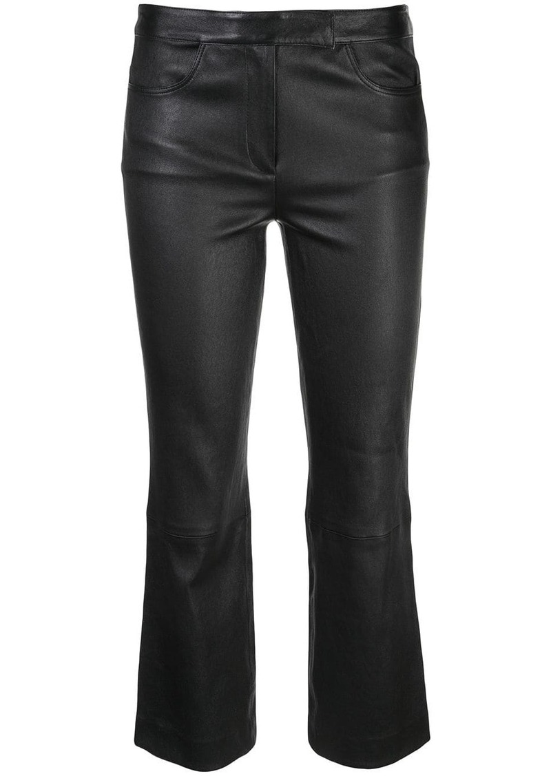 Theory textured cropped trousers