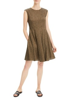 Theory Textured Fit-&-Flare Dress