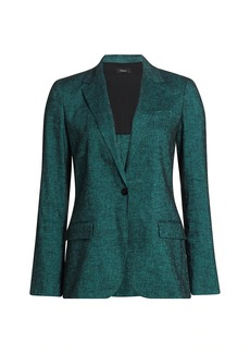 Theory Textured Good Linen Staple Blazer
