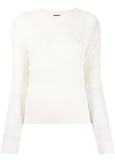 Theory textured long sleeve jumper
