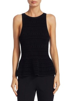 Theory Textured Peplum Top