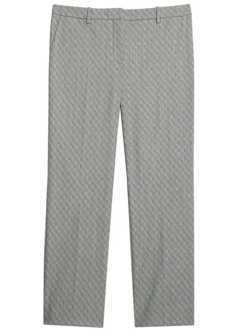 Theory Optical Wool Cropped Tailered Trousers