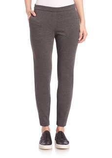 Theory Thaniel Ponte Slim-Flit Crop Pants