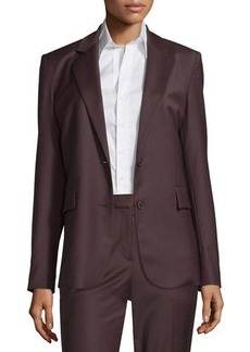 Theory Aaren Continuous Wool-Blend Jacket