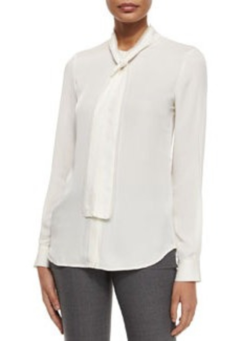 Theory Raashida Long-Sleeve Blouse