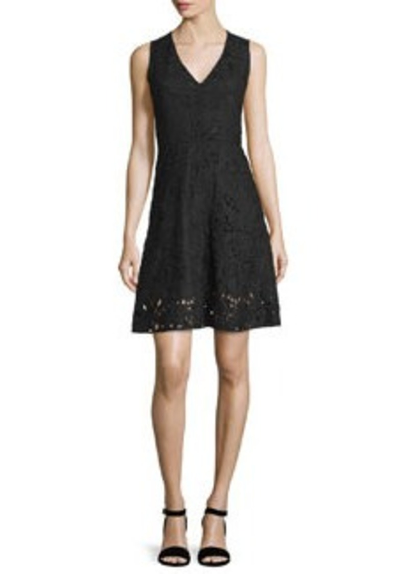 Theory Jemoine Embroidered Linen Dress