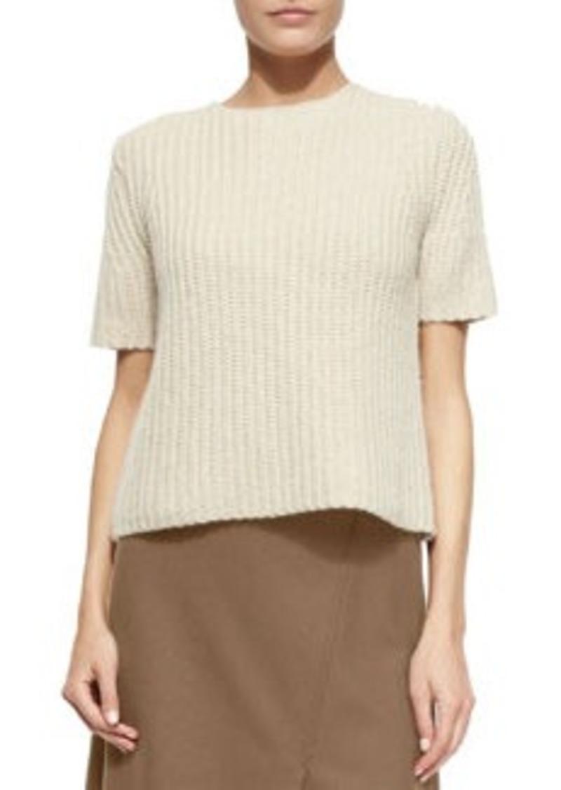 Theory Edalina Wool-Blend Stitched Sweater