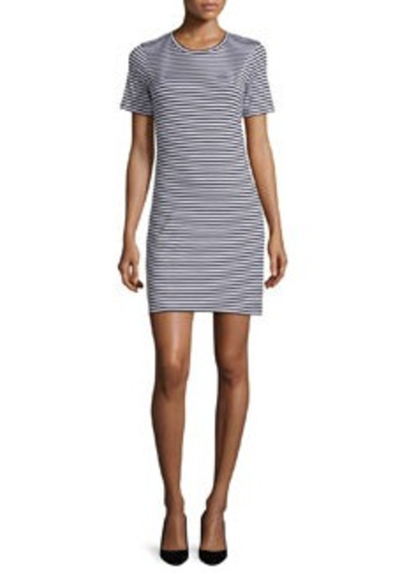Theory Cherry Striped T-Shirt Dress