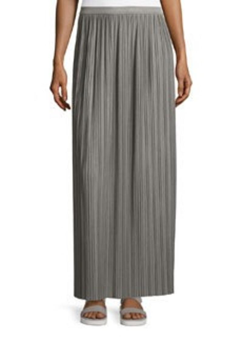Theory Osnyo Drapey Tee Pleated Maxi Skirt