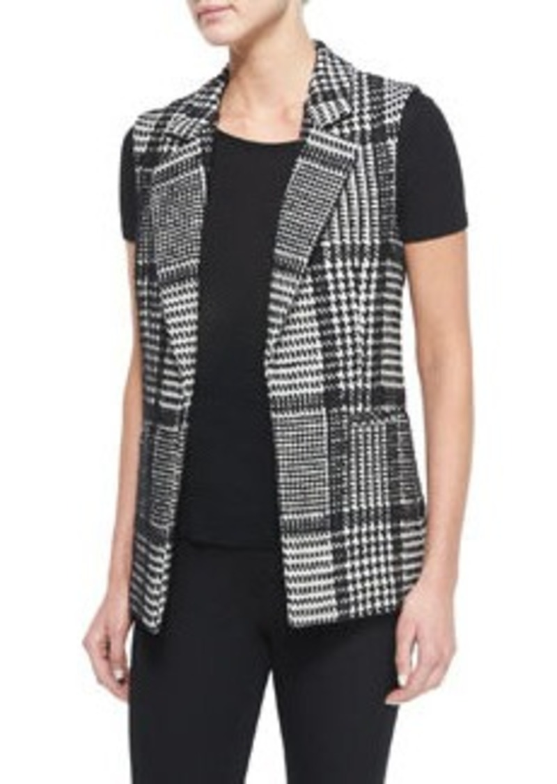 Theory Eldora Houndstooth-Patterned Vest