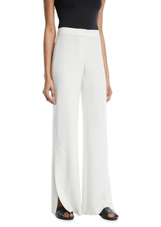 Theory Admiral Crepe High-Slit Pants