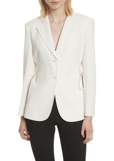 Theory Admiral Crepe Lace-Up Suit Jacket