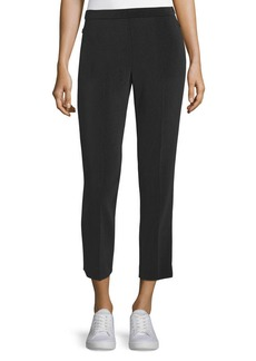 Theory Admiral Crepe Straight-Leg Basic Pull-On Pants
