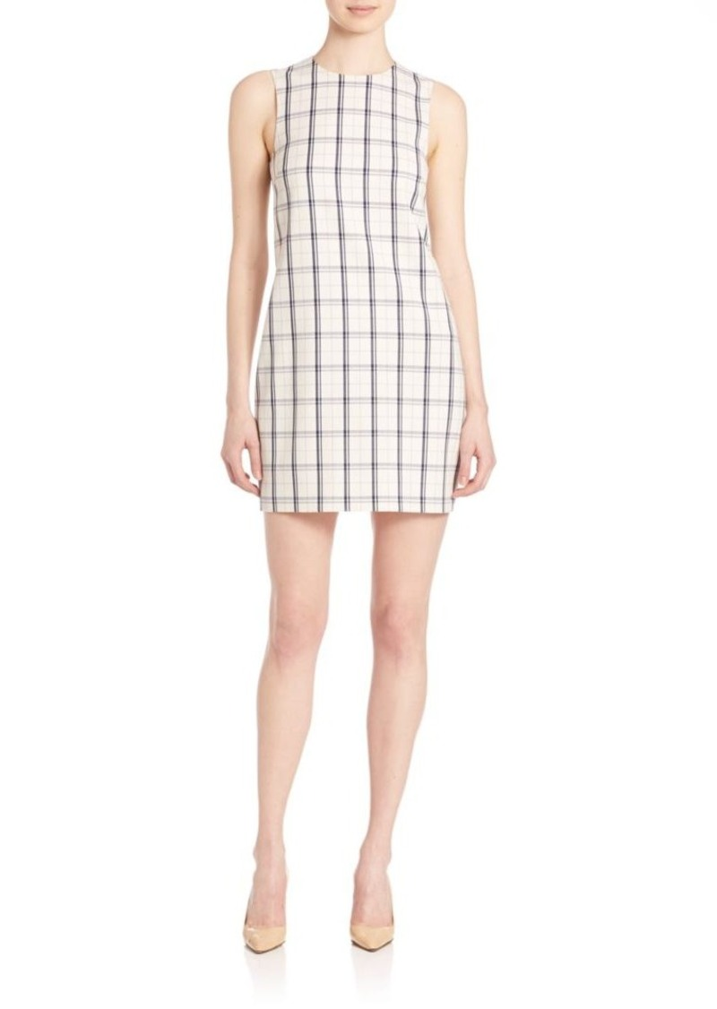 Theory Adraya Check-Print Dress