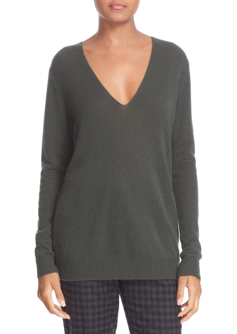 Theory 'Adrianna' V-Neck Cashmere Pullover