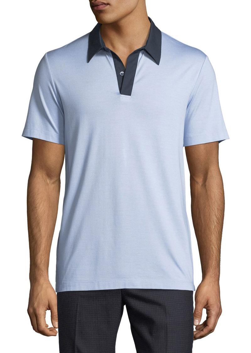 Theory Theory Air Pique Contrast Collar Polo Shirt