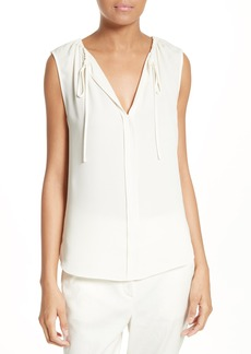 Theory Alamay Silk Georgette Top
