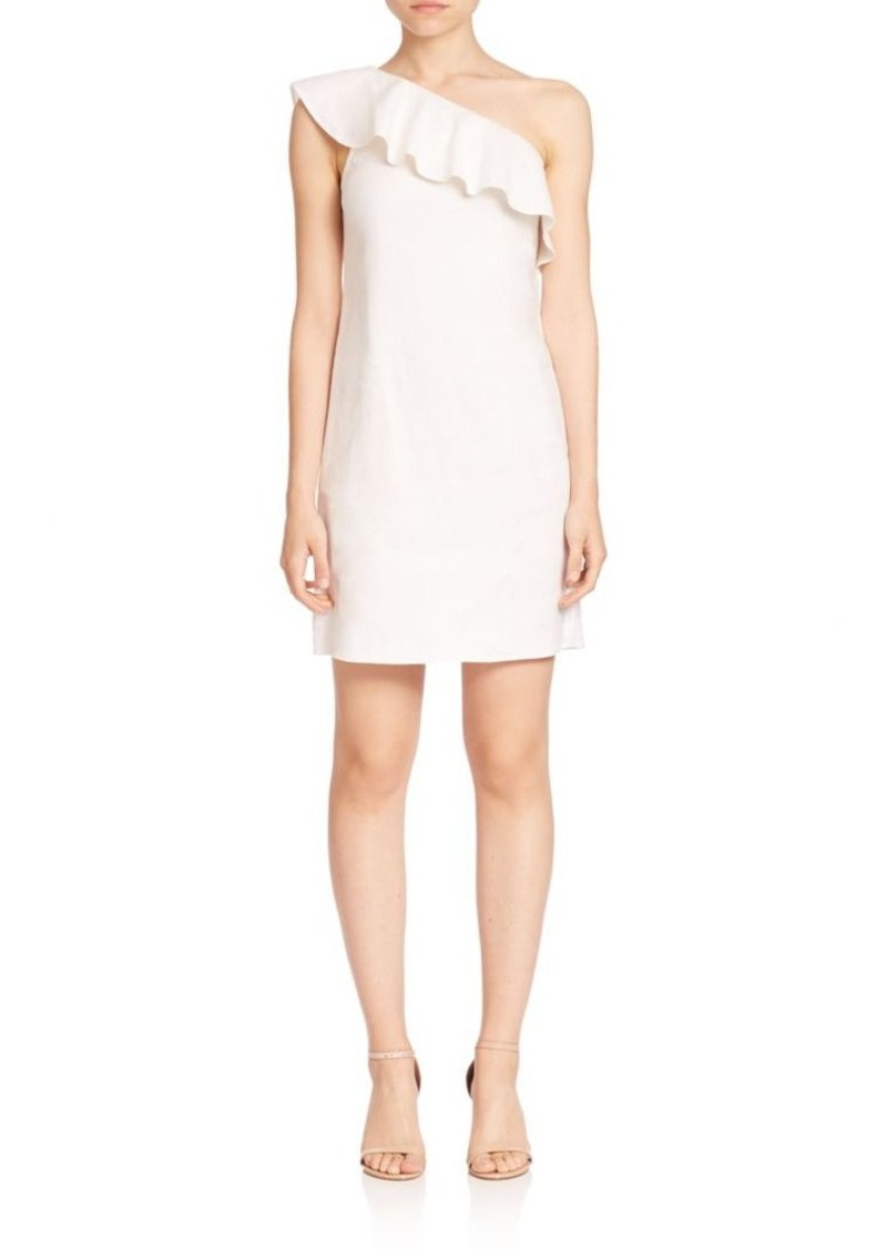 Theory Alexanda Tierra Ruffled One-Shoulder Dress