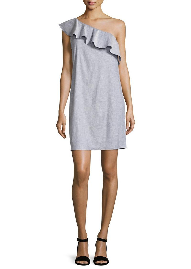 Theory Alexandra One-Shoulder Ruffle Dress