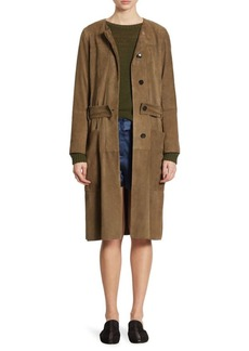 Theory Alioth Suede Military Jacket