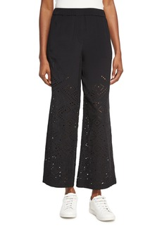 Theory Alkes Ghost Crepe Eyelet Pants