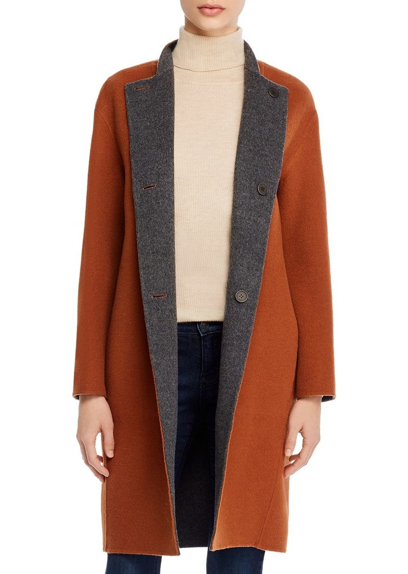 Theory Alma Reversible Wool Coat