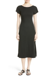 Theory Andrizza Interlock Cotton Midi Dress