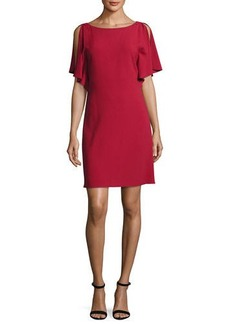 Theory Andzelika Rosina Boat-Neck Crepe Dress