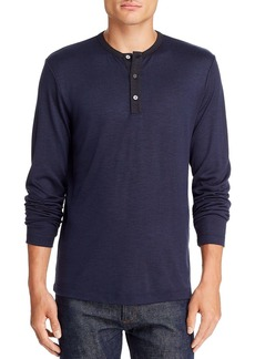 Theory Anemone Long-Sleeve Contrast-Trimmed Henley - 100% Exclusive