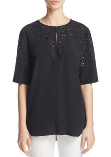 Theory Antazie Eyelet Top