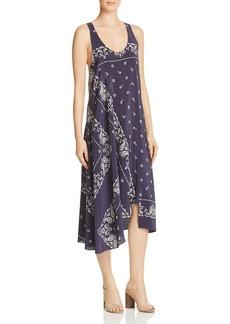 Theory Apalania Bandana-Print Silk Crepe de Chine Dress