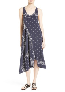 Theory Apalania Bandana Silk A-Line Dress