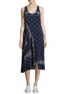 Theory Apalania Bandana Tank Dress