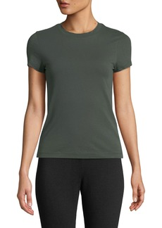 Theory Apex Crewneck Short-Sleeve Tiny Tee