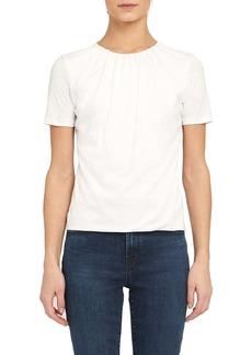 Theory Apex Gathered Neck Pima Cotton T-Shirt