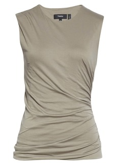 Theory Apex Ruched Pima Cotton Shell