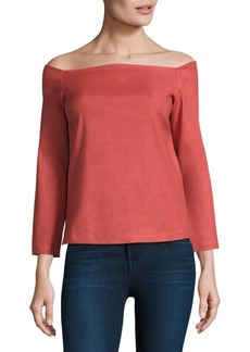 Theory Aprine New Stretch Off-The-Shoulder Top