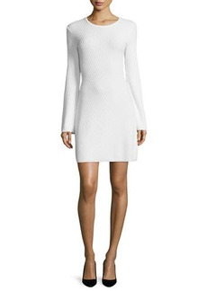 Theory Ardesia Prosecco Directional-Rib Sweater Dress