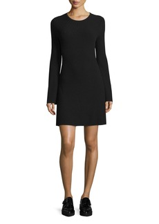Theory Ardesia Prosecco Directional-Rib Sweater Dress