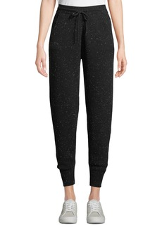 Theory Arleena Speckled Cashmere Jogger Pants
