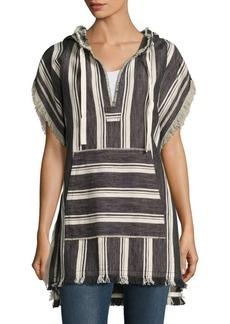 Theory Asmid Striped Cotton & Linen Poncho