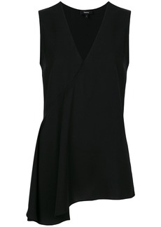 Theory asymmetric blouse - Black