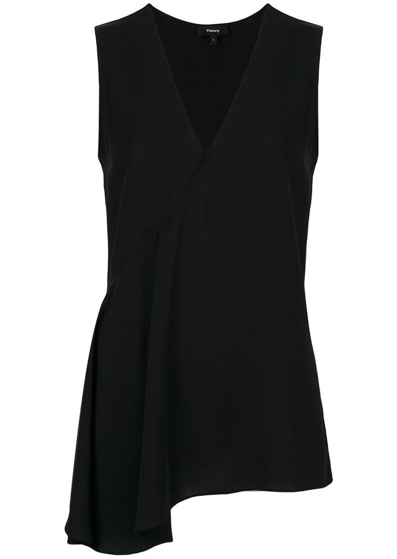 Theory asymmetric blouse - Black
