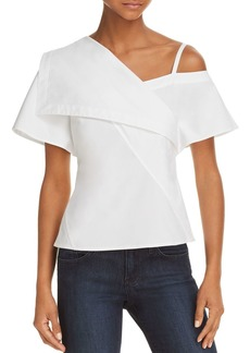 Theory Asymmetric Cold-Shoulder Top