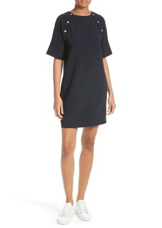 Theory Athrina Admiral Crepe Shift Dress