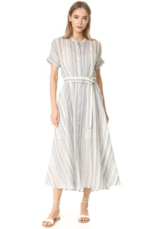 Theory Avinka Short Sleeve Shirt Dress